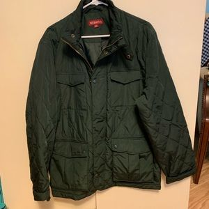 Merona Quilted Military-Style Green Jacket - Large